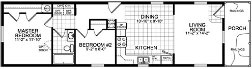 4 Bedroom Single Wide Mobile Homes | Show Home Design