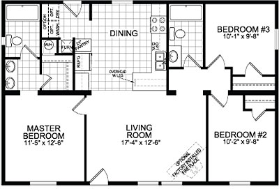 Double Wide Mobile Home Floor Plans Double Wide Home Cairo Ny
