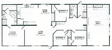 Double Wide Floor Plans 4 Bedroom Rooms