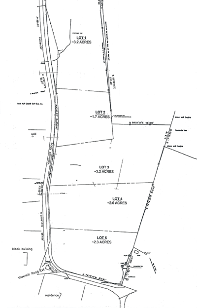 Lot Map for Vosenkill Road Property