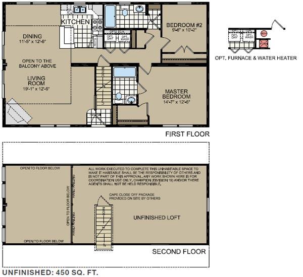 Floorplan of Model 551