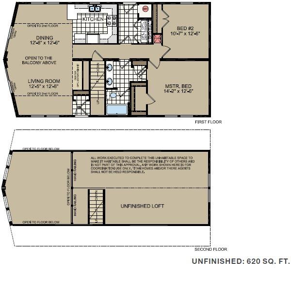 Floorplan of Model 646