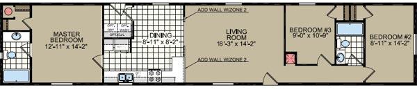 Floorplan of Model 028
