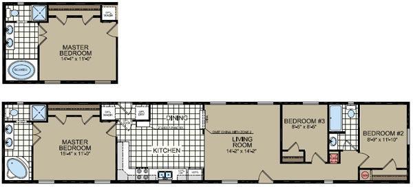 Floorplan of Model 051