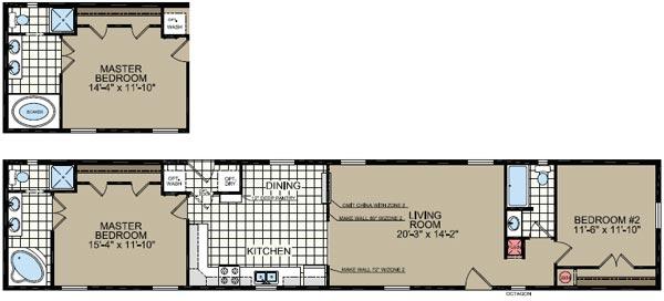 Floorplan of Model 051A