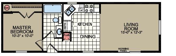 Floorplan of Model 073
