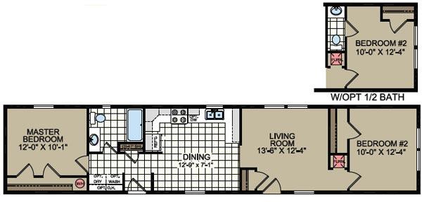 Floorplan of Model 310