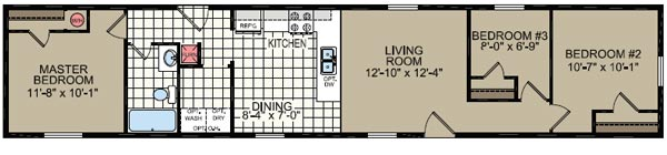 Floorplan of Model 369