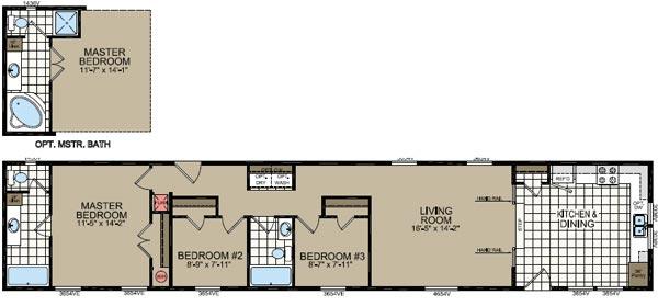 Floorplan of Model 472