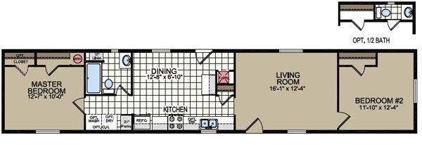 Floorplan of Model 724