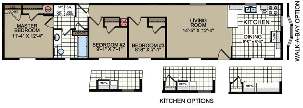 Floorplan of Model 808