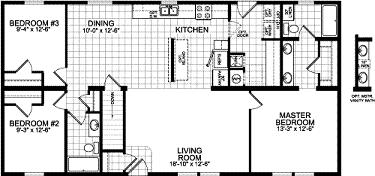 Double wide mobile home floor plans double wide home for Adirondack floor plans