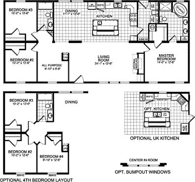 Floorplan of Model Brentwood 809