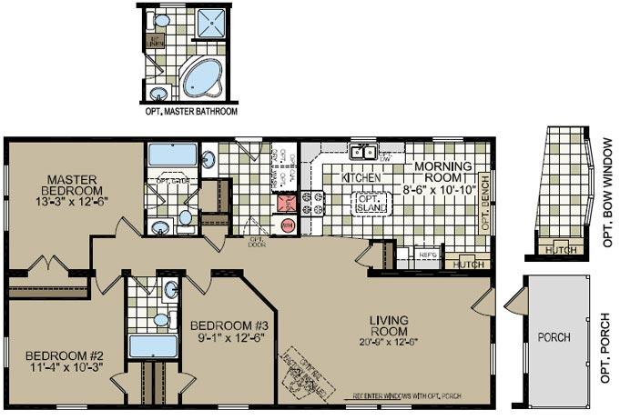 2006 homes of merit floor plans for Bathroom remodel zephyrhills