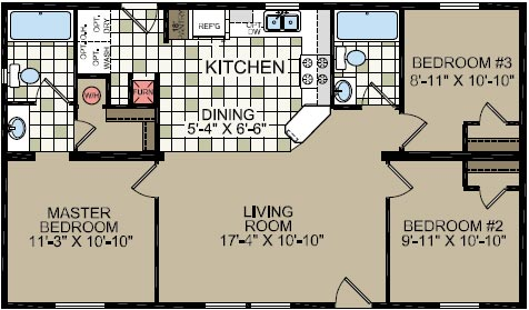 Floorplan of Model 921