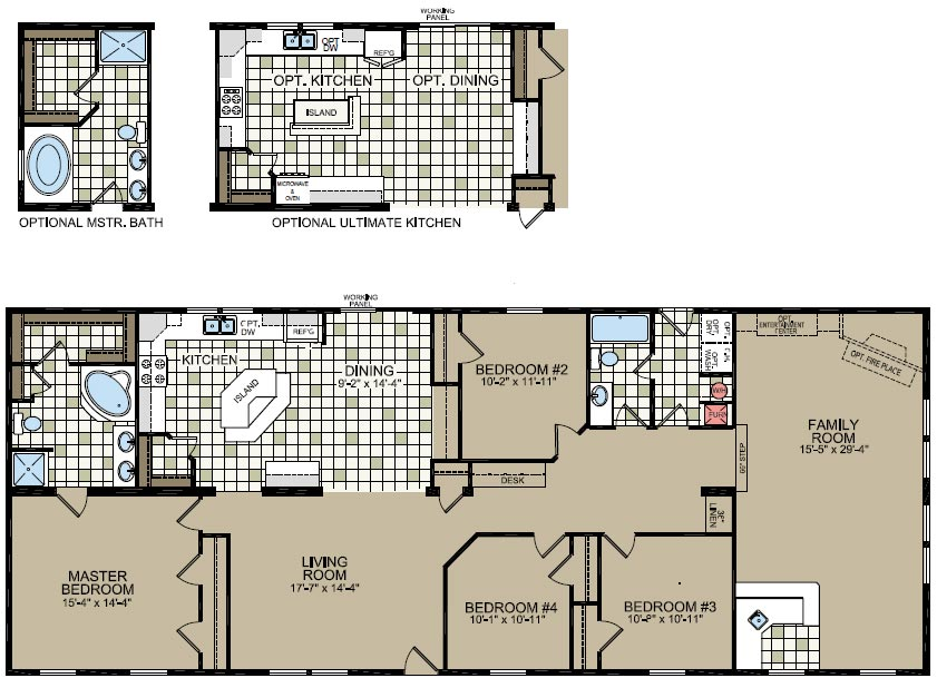 Double wide mobile home floor plans double wide home for 3 bedroom 2 bath double wide floor plans