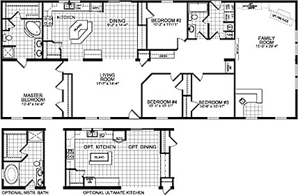 Double Wide Mobile Home Floor Plans | Double Wide Home Cairo NY