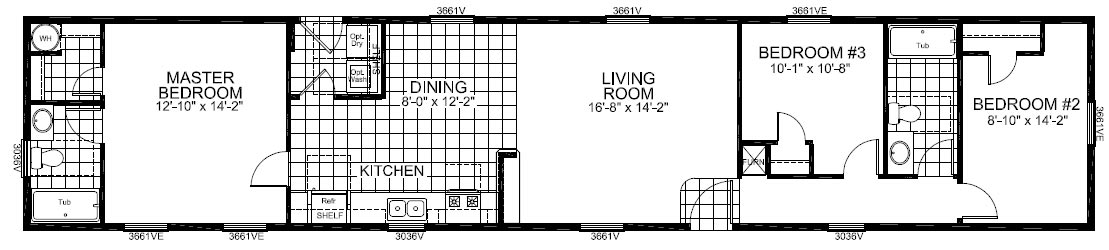 Floorplan of Model 19-492A
