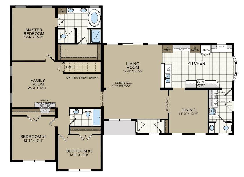 Floorplan of Model 768