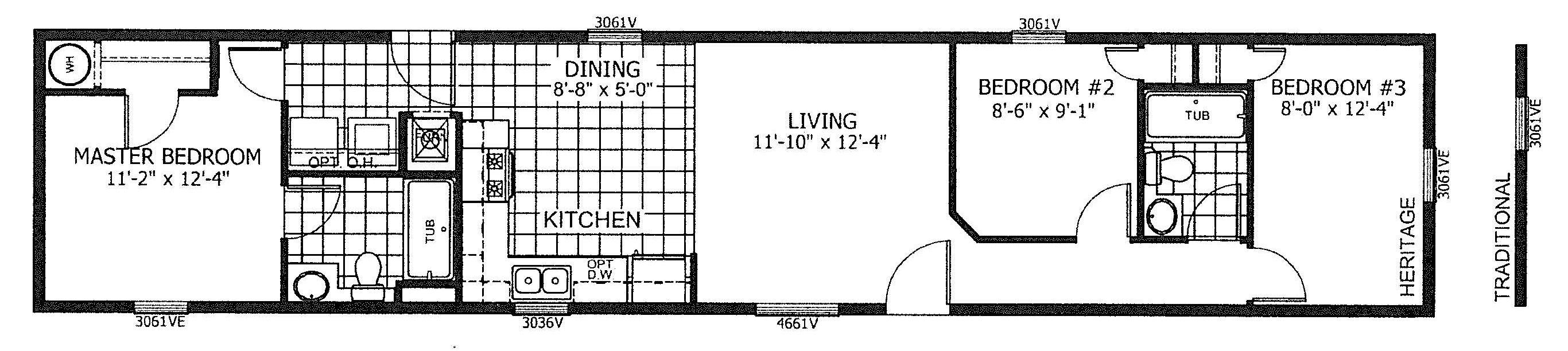 Floorplan of Model 19-7997