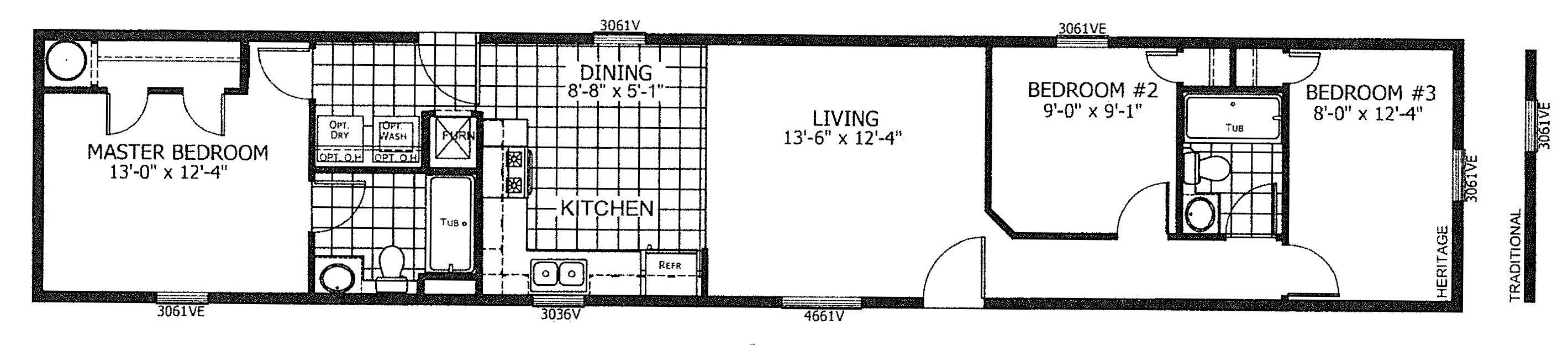 Floorplan of Model 19-7998